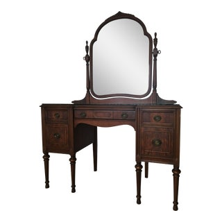 1933 Antique Vanity With Mirror For Sale