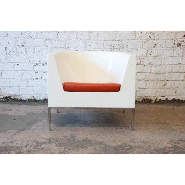 Mid-Century Modern Massimo Vignelli Style Plastic Cube Lounge Chairs, 1970s For Sale - Image 3 of 10