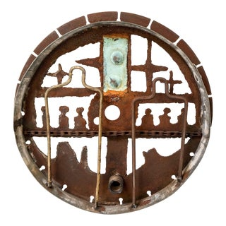 """Guardians"" Greg Bressani Wall Hanging Metal Sculpture For Sale"