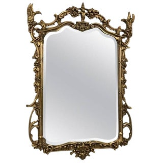 Giltwood Mirror with Eagle Motif For Sale