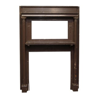 Victorian Style Double Wooden Mantel With Column Detail