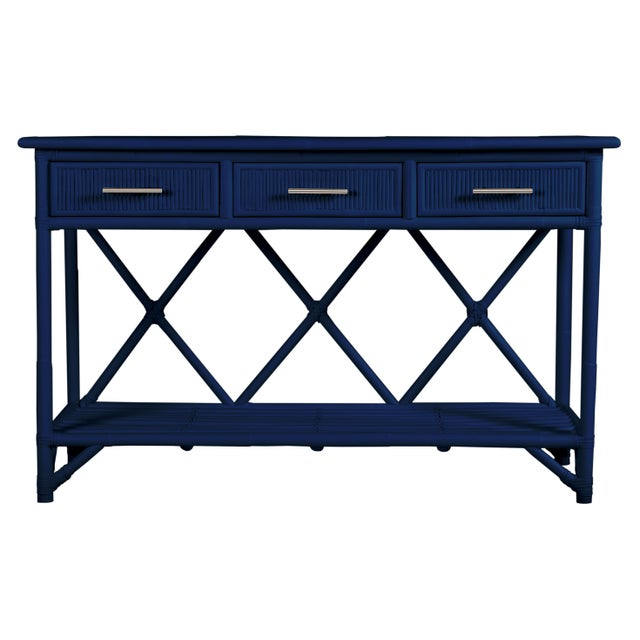 Not Yet Made - Made To Order Aruba Sideboard - Navy Blue For Sale - Image 5 of 5