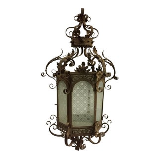 19th Century Moroccan Style Iron Lantern For Sale