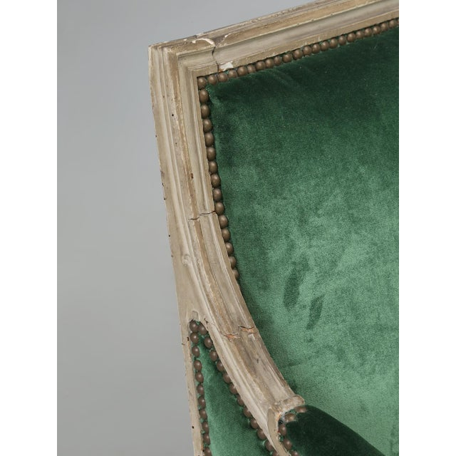 Wood Original Paint French Louis XVI Style Settee For Sale - Image 7 of 11