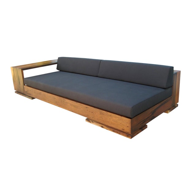 Costantini Patone Custom Modern Sofa in Rosewood For Sale
