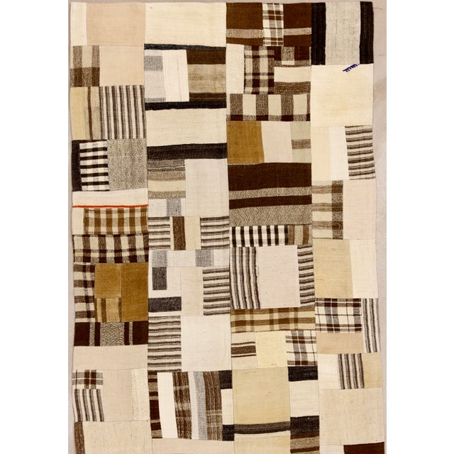 "Boho Rustic Patchwork Rug - 3'2"" X 4'9"" For Sale - Image 4 of 4"