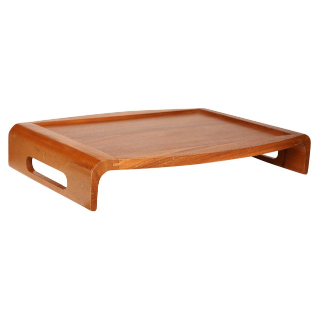 Mid-Century Wood Reversible Tray - Image 1 of 3