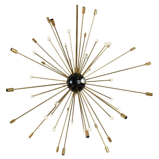 1960s Large Mid Century Modern Sputnik Chandelier