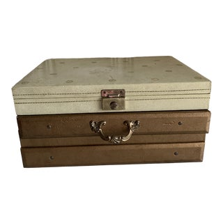 Midcentury Set of Two Jewelry Storage Boxes For Sale
