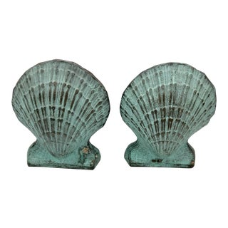Ethan Allen Shabby Chic Sea Shell Bookends - a Pair
