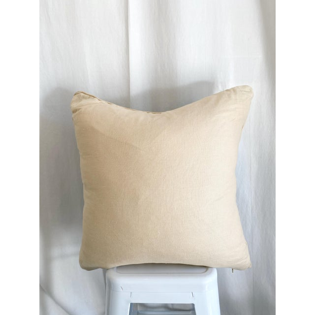 2010s Peter Dunham Fabric Pillow With Natural Linen Backing For Sale - Image 5 of 6