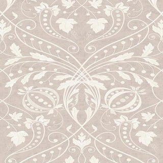 "Lewis & Wood Chateau Roan Extra Wide 52"" Damask Wallpaper Sample For Sale"