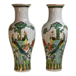 1960s Late Republic Porcelain Vases - a Pair For Sale