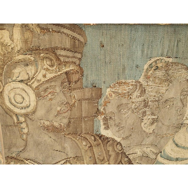 White 17th Century French Tapestry Fragment on Frame For Sale - Image 8 of 11
