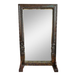 Vintage Architectural Free Standing Mirror For Sale