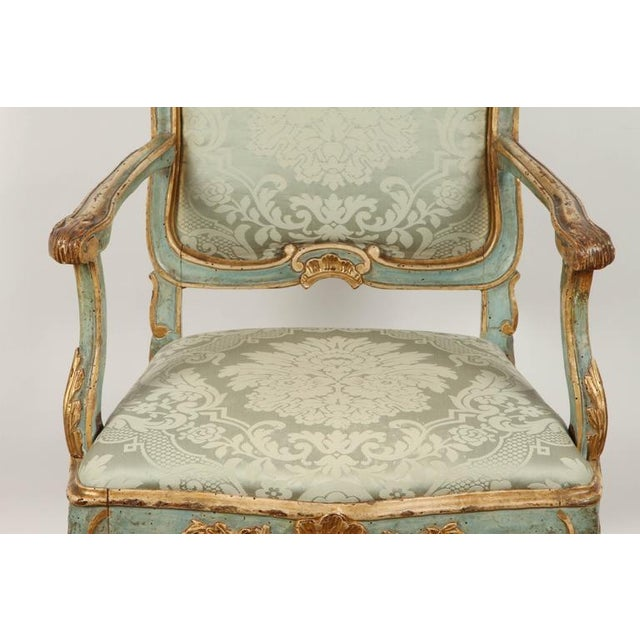 Fine Venetian Rococo Arm Chair For Sale - Image 4 of 9