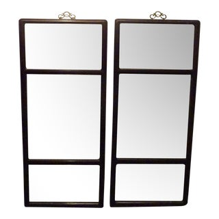 Chinese Antique Teak Mirrors - a Pair For Sale