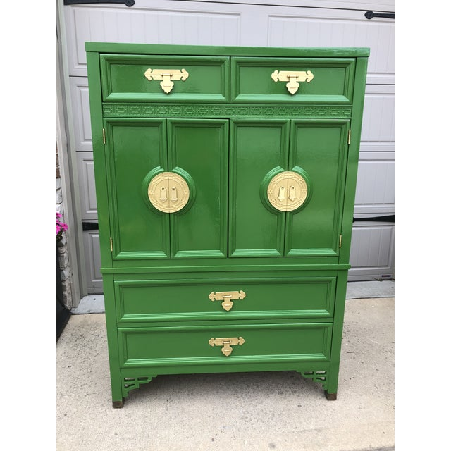 Vintage Chinoiserie Style Dresser by Dixie Furniture For Sale - Image 9 of 9