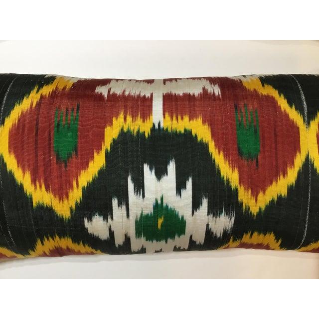 2010s Silk Ikat Lumbar Pillows - a Pair For Sale - Image 5 of 13
