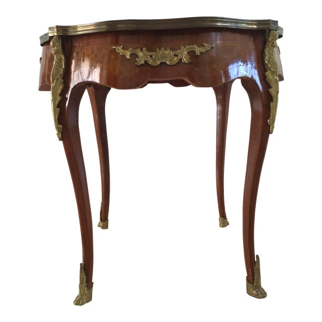 1940s French Louis XVI Cherrywood Table For Sale