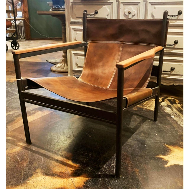 Vachetta Coffee Leather Barcelona Chair by Cisco Brothers For Sale - Image 13 of 13