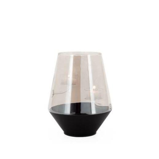 Smoke Glass Curve Duo Tealight Holder For Sale