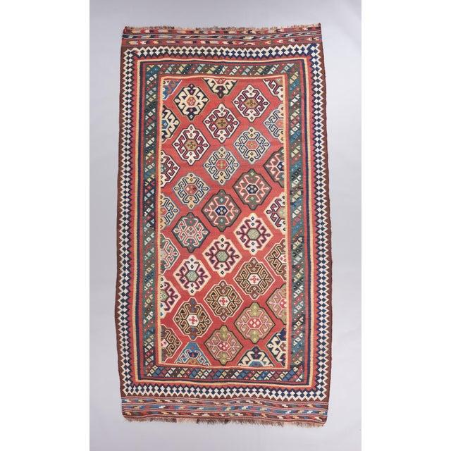 Late 19th Century Persian Qasqhai Kilim Rug - 5′4″ × 9′11″ For Sale - Image 4 of 4