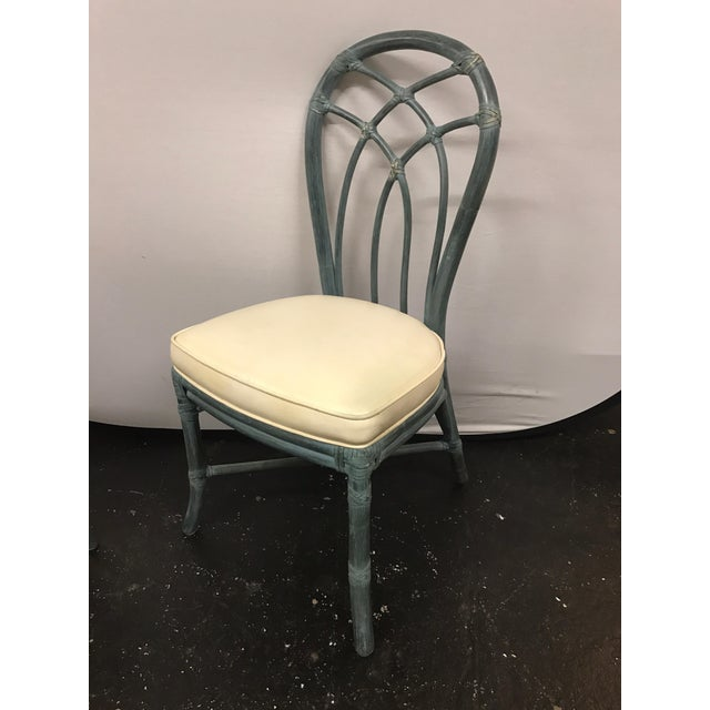 Chippendale Vintage Signed McGuire Furniture Bamboo Dining Chairs - Set of 6 For Sale - Image 3 of 11