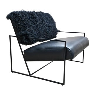 Barracuda Fur Upholstered Lounge Chair