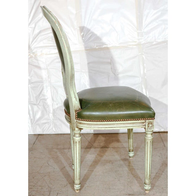 Animal Skin Set of Six French Louis XVI Dining Chairs For Sale - Image 7 of 11