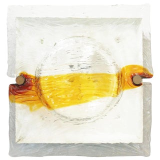 Italian Murano Quilt Sconces / Flush Mounts by Venini For Sale