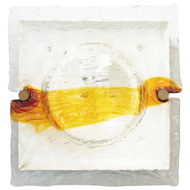Quilt Sconces / Flush Mount by Venini (3 Available) For Sale