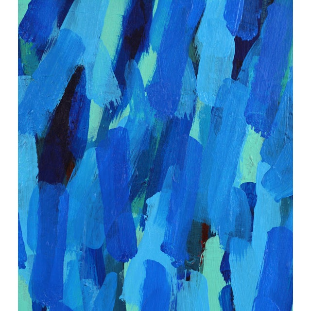 'Through the Blue' Original Abstract Painting by Lars Hegelund, 25 X 25 In. For Sale In Miami - Image 6 of 11