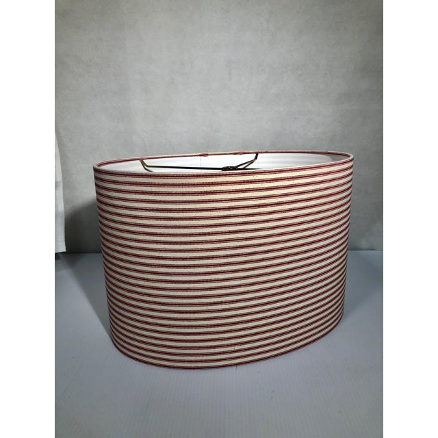 Metal Heath & Co Custom Red and White Lamp Shade For Sale - Image 7 of 7