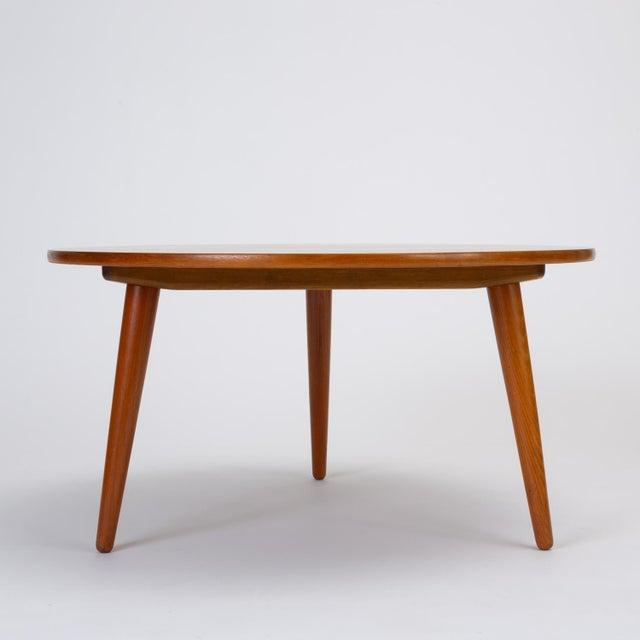 Danish Modern Hans Wegner Three-Legged Teak Coffee Table for Andreas Tuck For Sale - Image 3 of 12