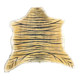 """Tiger Painted Canvas Decor - 5'7"""" X 6'7"""""""