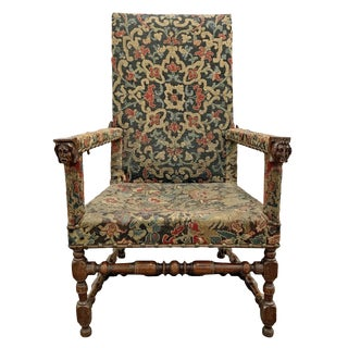 17th Century Antique French Ratchet Armchair For Sale