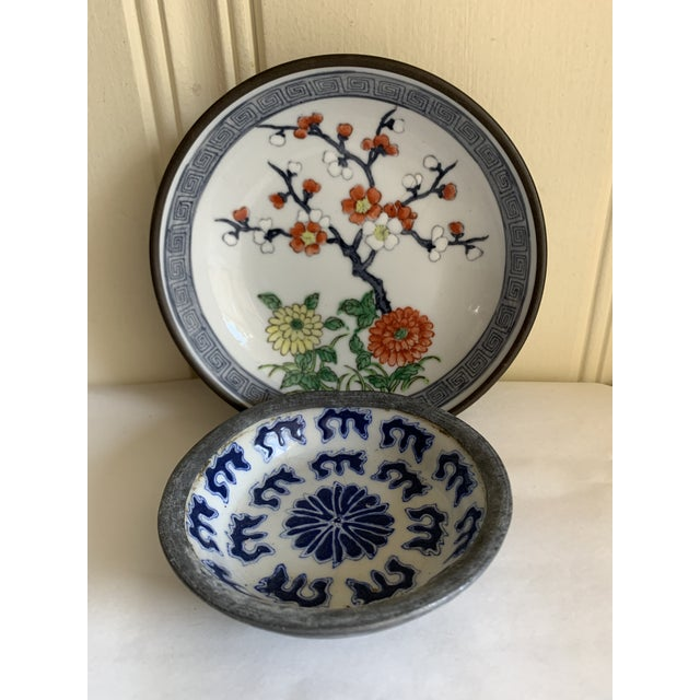 Midcentury Asian Chinoiserie Decor Trays Bowls For Sale In Los Angeles - Image 6 of 12