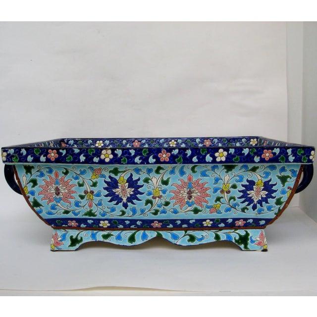 Longwy Ceramic Jardiniere For Sale - Image 4 of 11