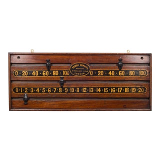 19th C. Mahogany Snooker Scoreboard C.1870 For Sale
