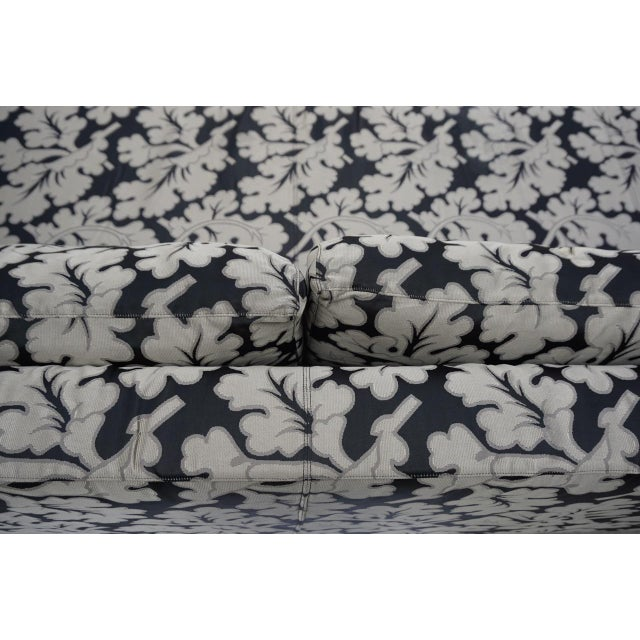 Metal Armani Casa Silk Fig Leaf Tuxedo Sofa For Sale - Image 7 of 10