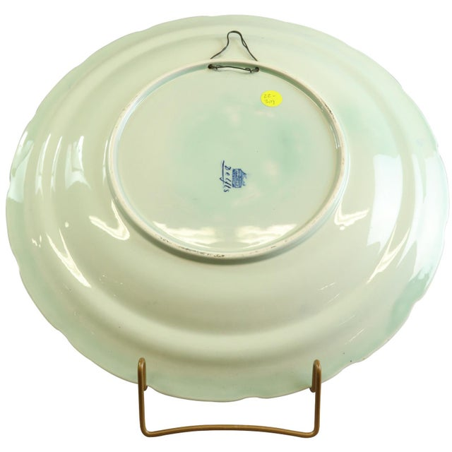 Traditional Plate, Petrus Regout Blue Delft Carriage Large For Sale - Image 3 of 5