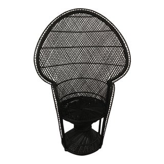 Onyx Rattan Peacock Chair For Sale