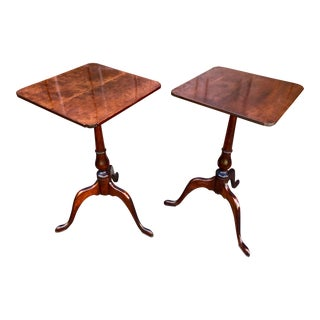 A Pair of 19th Century American Classical Mahogany Occasional Tables For Sale