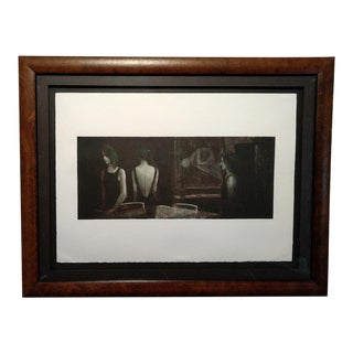 """1980s Mediterranean Contemporary Lithograph, """"Portfolio 1 - #5"""" by Ramon Lombarte, Framed For Sale"""