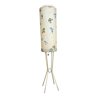 Mid-Century Modern Butterfly Shade Floor Lamp For Sale