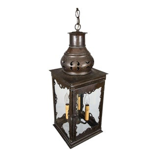 Hispano Moresque Style Hall Lantern For Sale