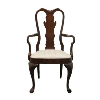 Late 20th Century Vintage Hickory Furniture American Masterpiece Queen Anne Dining Arm Chair For Sale