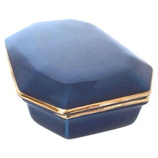 Raymor Vintage Italian Blue Lidded Ceramic Box