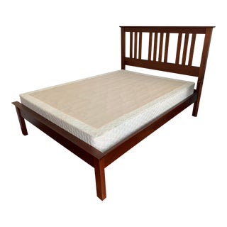 Borkholder Furniture Arts & Crafts Style Solid Cherry Queen Bed For Sale